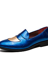 cheap -Men's Summer / Fall Classic / British Daily Office & Career Loafers & Slip-Ons Faux Leather Non-slipping Wear Proof Black / Blue / Brown