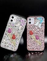 cheap -Rhinestone Flower TPU Case for Apple iPhone 11 Pro Max X XR XS Max 8 Plus 7 Plus 6 Plus SE Back Cover