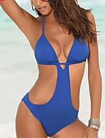 cheap -Women's One Piece Swimsuit Padded Swimwear Bodysuit Swimwear Purple Orange Blue Breathable Quick Dry Comfortable Sleeveless - Swimming Surfing Water Sports Summer / Stretchy