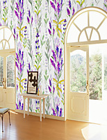 cheap -Custom Self-Adhesive Mural Wallpaper Lavender Pattern Is Suitable For Bedroom Living Room Coffee Shop Restaurant And Hotel Wall Decoration Art   Room Wallcovering Art Deco