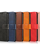 cheap -Case For Samsung Galaxy M30/M20/M10/J8 2018/J6 2018/J6 Plus 2018/J6 Prime/J4/J4 Plus/J7/J5/A6/A6/A7/A9 Card Holder / Shockproof / Flip Full Body Cases Solid Colored PU Leather / TPU