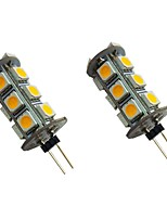 cheap -2pcs 2 W LED Bi-pin Lights 200 lm G4 18 LED Beads SMD 5050 Warm White White 12 V