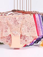 cheap -Women's Lace Brief Low Waist Purple Blushing Pink Red L XL XXL