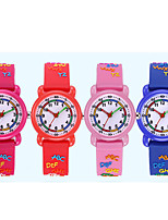 cheap -Kids Sport Watch Quartz 30 m Water Resistant / Waterproof Day Date Analog Cartoon Fashion - Blue Red Blushing Pink One Year Battery Life