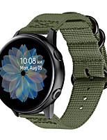 Недорогие -Ремешок для часов для Samsung Galaxy Watch 42 / Samsung Galaxy Active / Samsung Galaxy Watch Active Samsung Galaxy Спортивный ремешок / Современная застежка / Бизнес группа Нейлон Повязка на запястье
