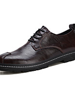 cheap -Men's Fall / Spring & Summer Casual / British Daily Party & Evening Oxfords Microfiber Breathable Non-slipping Wear Proof Black / Brown / Gray