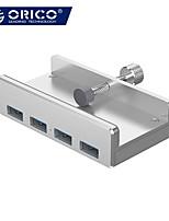 cheap -ORICO Aluminum 4 Ports USB 3.0 Clip HUB for Desktop Laptop Clip Range 10-32mm