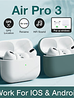cheap -Airs Pro 3 TWS True Wireless Earbuds 1 to 1 Replica Automatic Wireless Charging Box Ear Detection Rename GPS Find My Devices Pop Up Window (iOS) Smart Touch Control for Mobile Phone