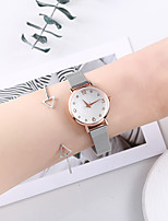 cheap -Women's Steel Band Watches Minimalist New Arrival Silver Stainless Steel Chinese Quartz Silver Chronograph Cute Creative 2 Piece Analog One Year Battery Life