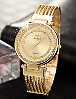 cheap -Women's Quartz Watches Casual Fashion Silver Gold Rose Gold Alloy Chinese Quartz Rose Gold Gold Silver Casual Watch Adorable Imitation Diamond 30 m 1 pc Analog One Year Battery Life / Stainless Steel
