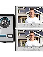 Недорогие -7-дюймовый проводной видеодомофон Домофон 1 камера 2 монитора с функцией разблокировки монитора p812m11