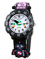 cheap -Kids Sport Watch Automatic self-winding Black Water Resistant / Waterproof Analog Cartoon - Black / Pink