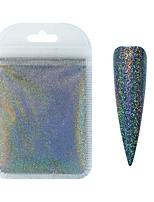 cheap -Mirror Aurora Nail Art Glitter Powders Mermaid Chrome Pigment Dust Manicure DIY Nail Art Decoration 1 Pack 10g