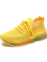 cheap -Women's Trainers / Athletic Shoes Spring & Summer / Fall & Winter Flat Heel Round Toe Daily Outdoor Mesh Yellow / Dusty Rose / White