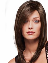 cheap -Synthetic Wig Matte kinky Straight Bob Wig Long Light Brown Synthetic Hair 14 inch Women's Fashionable Design Best Quality Highlighted / Balayage Hair Brown