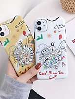 cheap -Case For Apple iPhone 11 / iPhone 11 Pro / iPhone 11 Pro Max Flowing Liquid / IMD / Frosted Back Cover Flower TPU
