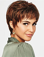 cheap -Synthetic Wig kinky Straight Pixie Cut Wig Short Light Brown Synthetic Hair 12 inch Women's Simple Classic Women Light Brown