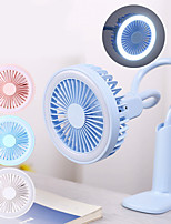 cheap -Portable Mini Fan with LED Night Light Handheld Rechargeable Battery Operated USB Small Desk Table Fan for Home Laptop Outdoor Travel Baby Stroller Car Bedside Clip Fan