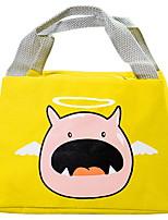 cheap -Women's Canvas Top Handle Bag Canvas Bag Character Black / Blue / Yellow