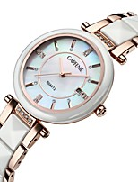 cheap -Women's Quartz Watches Luxury Fashion Ceramic Japanese Quartz Rose Gold White Water Resistant / Waterproof Calendar / date / day 30 m 1 pc Analog One Year Battery Life