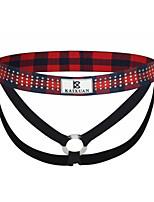 cheap -Men's Criss Cross G-string Underwear - Normal Low Waist Wine Black Blue S M L