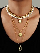 cheap -Women's Choker Necklace Chrome Gold 54 cm Necklace Jewelry 1pc For Daily