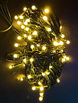 cheap -10m String Lights 100 LEDs Dip Led 1 set White Multi Color Warm Yellow Halloween Christmas Party Decorative Holiday 220-240 V