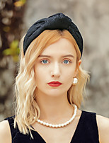 cheap -Elegant Headpieces Polyester Hats / Headpiece with Bowknot 1pc Special Occasion / Party / Evening Headpiece