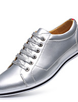 cheap -Men's Summer / Fall Classic / Casual Daily Office & Career Sneakers Faux Leather Non-slipping Wear Proof Gold / Silver