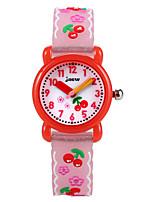 cheap -Kids Sport Watch Automatic self-winding Rubber White / Pink Water Resistant / Waterproof Analog Cartoon - White Blushing Pink