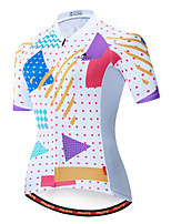 cheap -Miloto Women's Short Sleeve Cycling Jersey Blue / White Bike Jersey Top Mountain Bike MTB Road Bike Cycling Breathable Quick Dry Sports Clothing Apparel / Stretchy