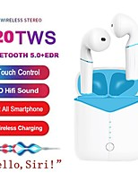 cheap -P20 TWS Ture Wireless Earbuds Bluetooth 5.0 Earphone Super Bass Headset with Wireless Charging for Huawei iPhone