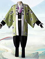 cheap -Inspired by Demon Slayer: Kimetsu no Yaiba Himejima Kyoumei Anime Cosplay Costumes Japanese Cosplay Suits Coat Top Pants For Men's / Necklace / Waist Belt / Bracelets