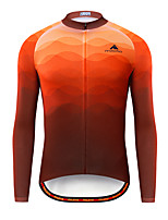 cheap -Miloto Men's Long Sleeve Cycling Jersey Red Bike Jersey Top Mountain Bike MTB Road Bike Cycling Breathable Quick Dry Sports Clothing Apparel / Stretchy