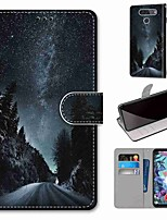cheap -Case For LG Q70 / LG K50S / LG K40S Wallet / Card Holder / with Stand Full Body Cases Mountain Road PU Leather / TPU for LG K30 2019 / LG K20 2019