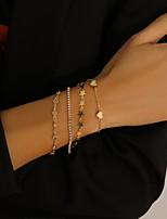 cheap -4pcs Women's Layered Star Classic Punk Fashion Iron Bracelet Jewelry Gold For Gift Festival