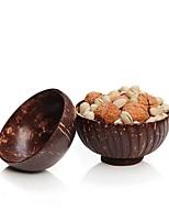 Недорогие -Натуральный оригинальный кокосовой скорлупы старый кокосовой скорлупы кокосовой скорлупы кокосовой скорлупы посуда десерт фруктовый салат рисовая чаша d13.5 h7cm