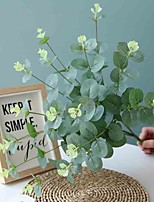 cheap -50cm 4 Fork Eucalyptus Money Leaf Flower Wall Wedding Road Dedicated Artificial Flowers 1 Stick