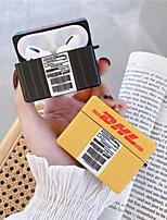Недорогие -Кейс для Назначение AirPods Pro С узором / Cool / Милый Чехол для наушников Твердый