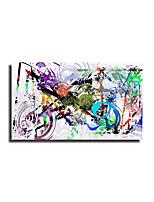 Недорогие -абстрактный город граффити велосипед поп-арт живопись современное творчество без рамы холст плакат графическое изображение домашний декор печать рулонные отпечатки на холсте - абстракция натюрморт
