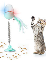 cheap -Ball Feather Toy Bells Slow Feeder & Treat Ball Cat Kitten Pet Toy 1 set Ball Pet Friendly Electronic Pet Exercise ABS+PC Gift