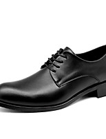 cheap -Men's Fall / Spring & Summer Casual / British Daily Party & Evening Oxfords Leather / Microfiber Breathable Non-slipping Wear Proof Black