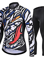 cheap -Nuckily Men's Long Sleeve Cycling Jersey with Tights Black Bike Sports Graffiti Road Bike Cycling Clothing Apparel