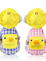 cheap -Dog Cat Sweatshirt Bandanas & Hats Dog Clothes Yellow Pink Blue Costume Shiba Inu Poodle Baby Pet Cotton Plaid / Check Cartoon Casual / Daily Sweet XS S M L XL XXL
