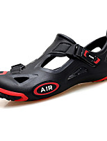 cheap -Men's Summer Outdoor Sandals PU Non-slipping Black and White / Black / Red / Black / Yellow