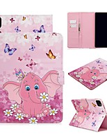 cheap -Case For Apple iPad Air/iPad 4/3/2/Mini 3/2/1 Wallet / Card Holder / with Stand Full Body Cases Animal PU Leather For iPad Pro 9.7/New Air 10.5 2019/Pro 11 2020/Mini 5/2017/2018/ipad 10.2