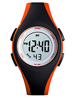 cheap -SKMEI Kids Digital Watch Digital Sporty PU Leather Black / Blue / Green 30 m Water Resistant / Waterproof Calendar / date / day Chronograph Digital Outdoor - Black Blue Red One Year Battery Life