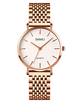 cheap -SKMEI Ladies Quartz Watches Elegant Fashion Silver Rose Gold Stainless Steel Chinese Quartz Rose Gold Silver Water Resistant / Waterproof Shock Resistant Casual Watch 30 m 1 pc Analog One Year