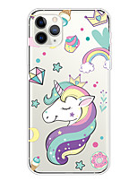 cheap -Case For Apple iPhone 11/11 Pro/11 Pro Max/XS/XR/XS Max/8 Plus/7 Plus/6S Plus/8/7/6/6s/SE/5/5S Transparent Pattern Back Cover Unicorn Soft TPU