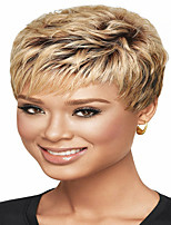 cheap -Synthetic Wig kinky Straight Pixie Cut Wig Short Light Brown Synthetic Hair 12 inch Women's Simple Fashionable Design Women Brown